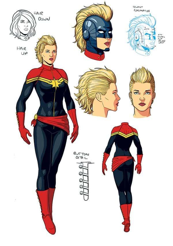 Captain Marvel's new design