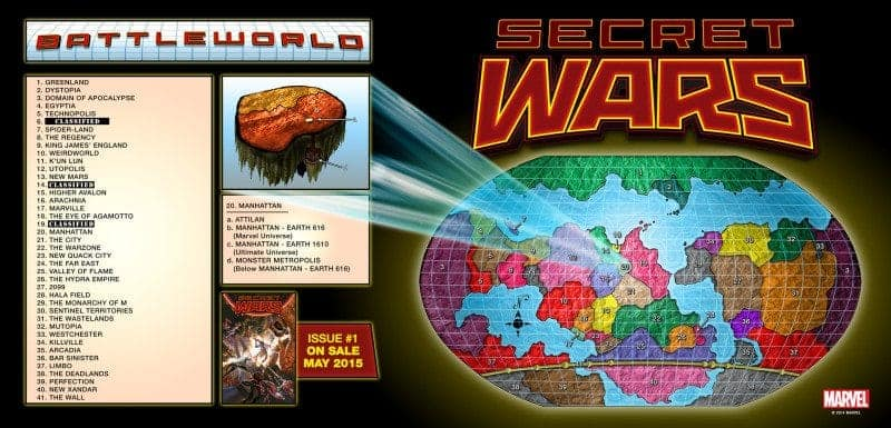 Battleworld is the setting of the reboots