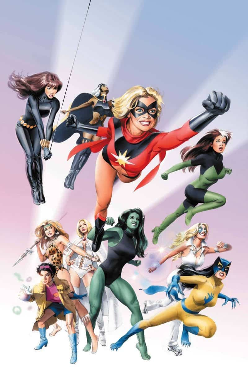 Women of Marvel in A-Force cover!