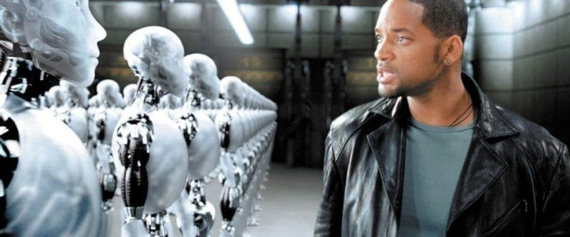 "Will Smith stars in ""I, Robot"" for roger ebert movie review 7/16/04"