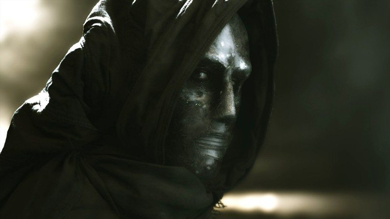 Promotional photo of Dr. Doom from FANTASTIC FOUR film in 2015.