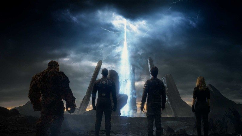 film still from Fox's 2015 comic book film adaptation FANTASTIC FOUR