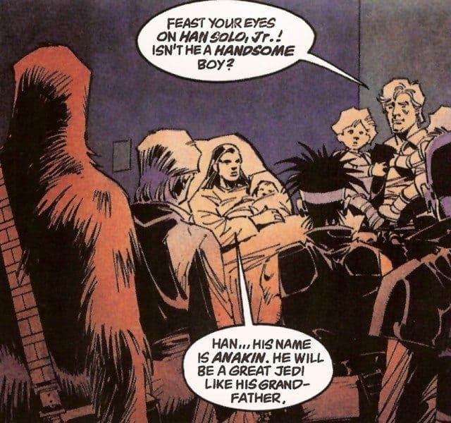 Anakin Solo born in Dark Empire