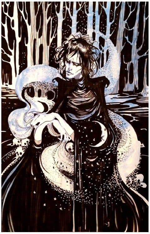 Danielle Otrakji's Comic Convention Artist Commission of SANDMAN's Morpheus!