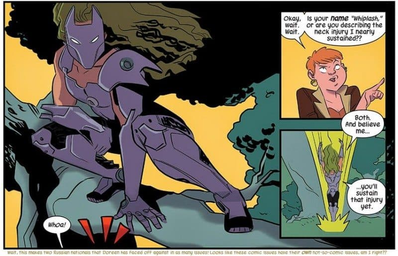 Squirrel Girl vs Whiplash