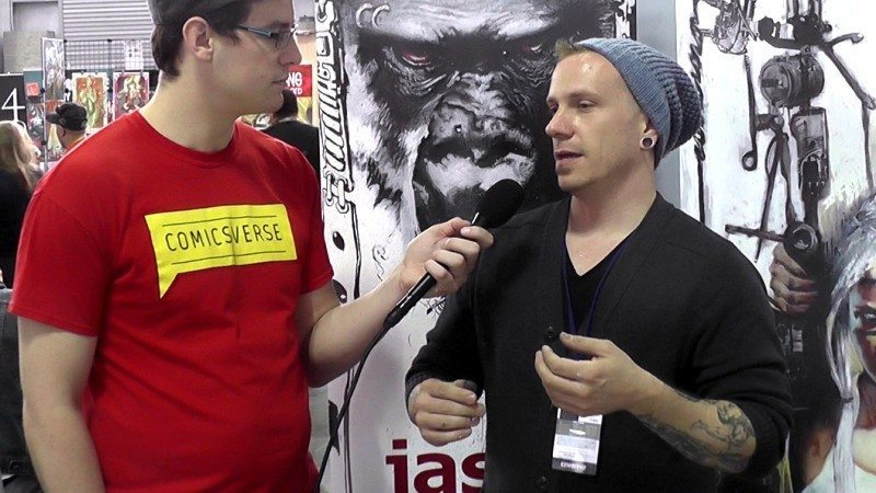 Jason Shawn Alexander at New York Comic Con 2015 interviewed by ComicsVerse