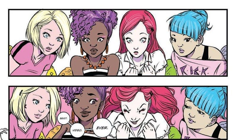 Jem and The Holograms Issue 8 Making the best music video ever