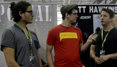 Matt Hawkins and Isaac Goodheart interview (of Image-s POSTAL) at New York Comic Con 2015 by ComicsVerse