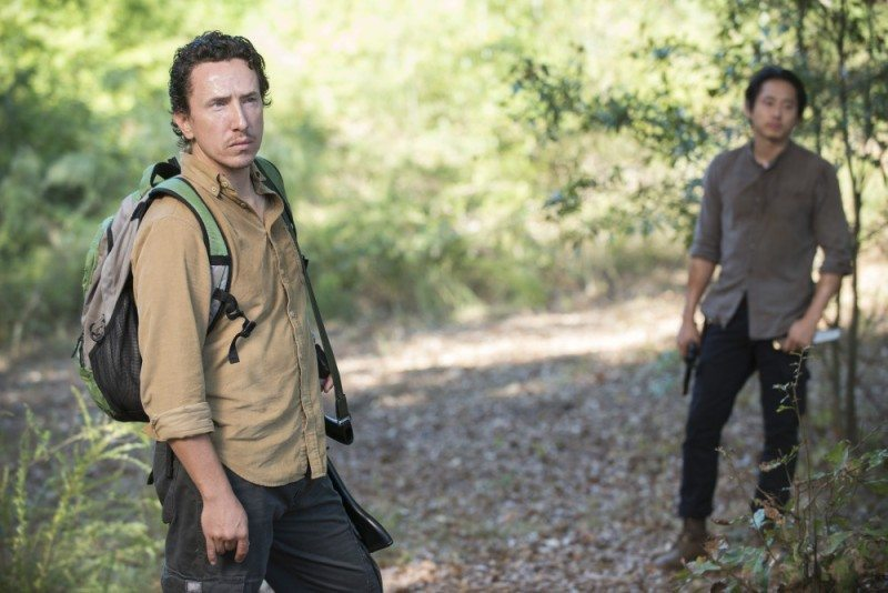 Michael Traynor as Nicholas and Steven Yeun as Glenn Rhee - The Walking Dead _ Season 5, Episode 12 - Photo Credit: Gene Page/AMC