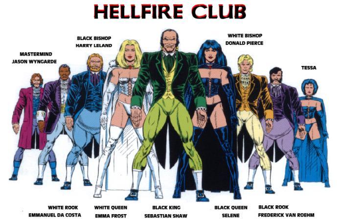 The original Hellfire Club in X-Men comics