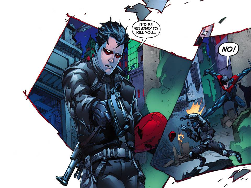 Red Hood and Nightwing and Batman
