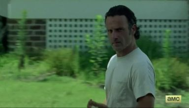 Rick Grimes on AMC's Walking Dead season 6 episode 7