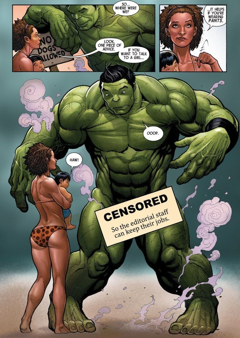 Amadeus Cho as Hulk loses his pants
