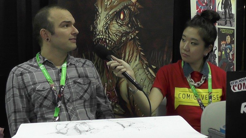 ComicsVerse interviews Riley Rossmo at New York Comic Con 2015