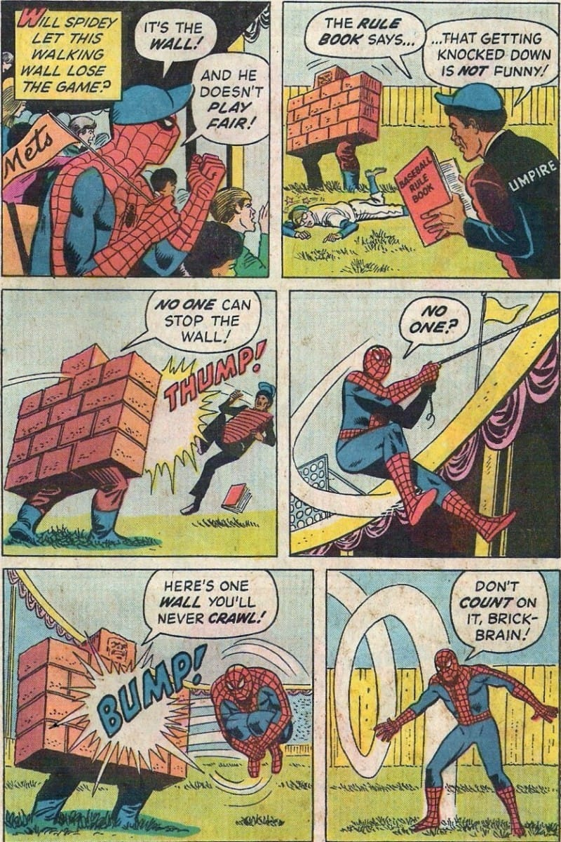 Spiderman fights a wall