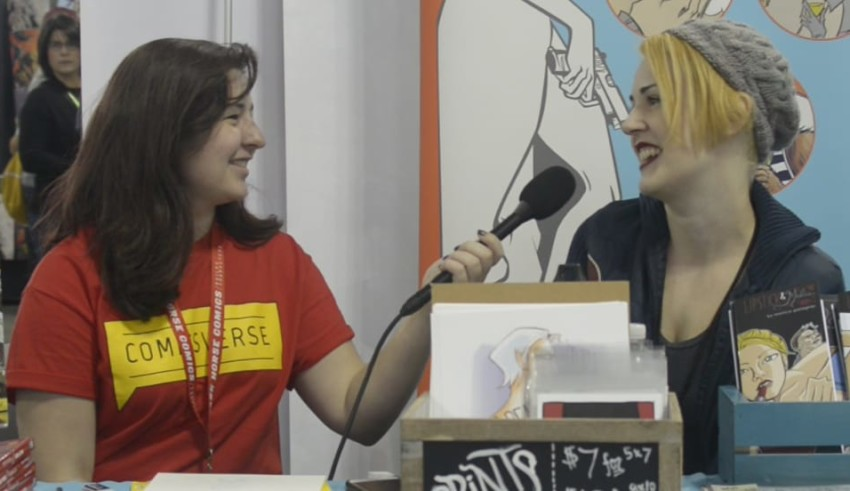 Jamie interviews Monica Gallagher at New York Comic Con 2015