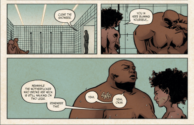 Kam and Penny have a heart to heart in BITCH PLANET #7