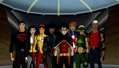 Superboy (Connor Kent), Zatanna, Kid Flash (Wally West), Rocket (Raquel Ervin), Robin (Dick Grayson), Miss Martian (Megan Morse), Artemis (Artemis Crock), Aqualad (Kaldur'ahm) - Young Justice