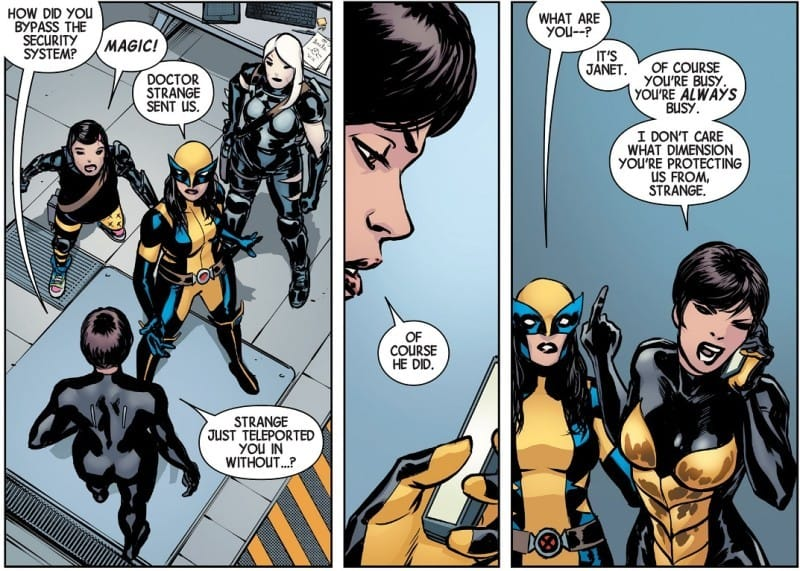 all-new wolverine #5 the wasp calls doctor strange