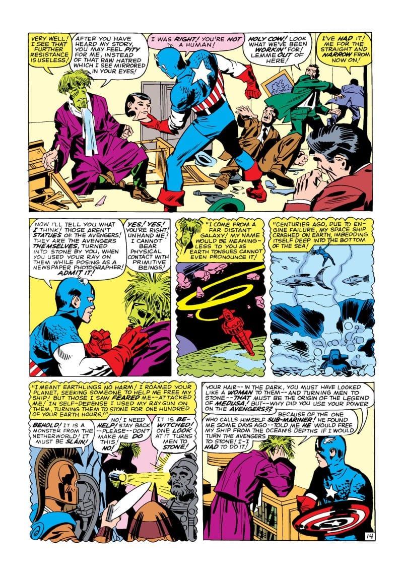 Avengers #4 Celery Avengers Members