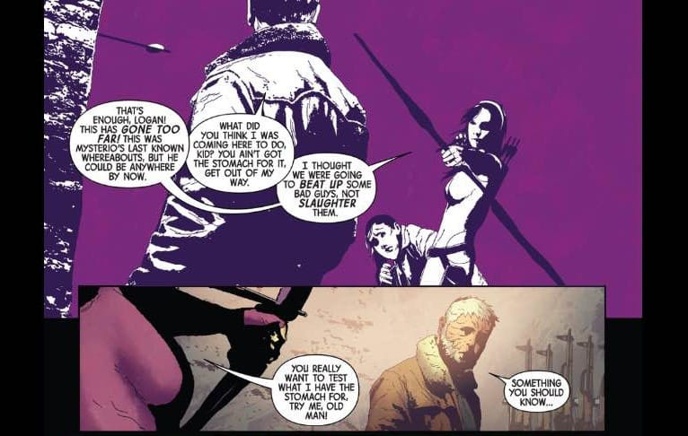 Old Man Logan Review, logan, Jeff Lemire, Andrea Sorrentino, Kate Bishop, Wolverine, Marvel