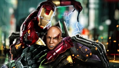 DC vs Marvel Iron Man Lex Luthor