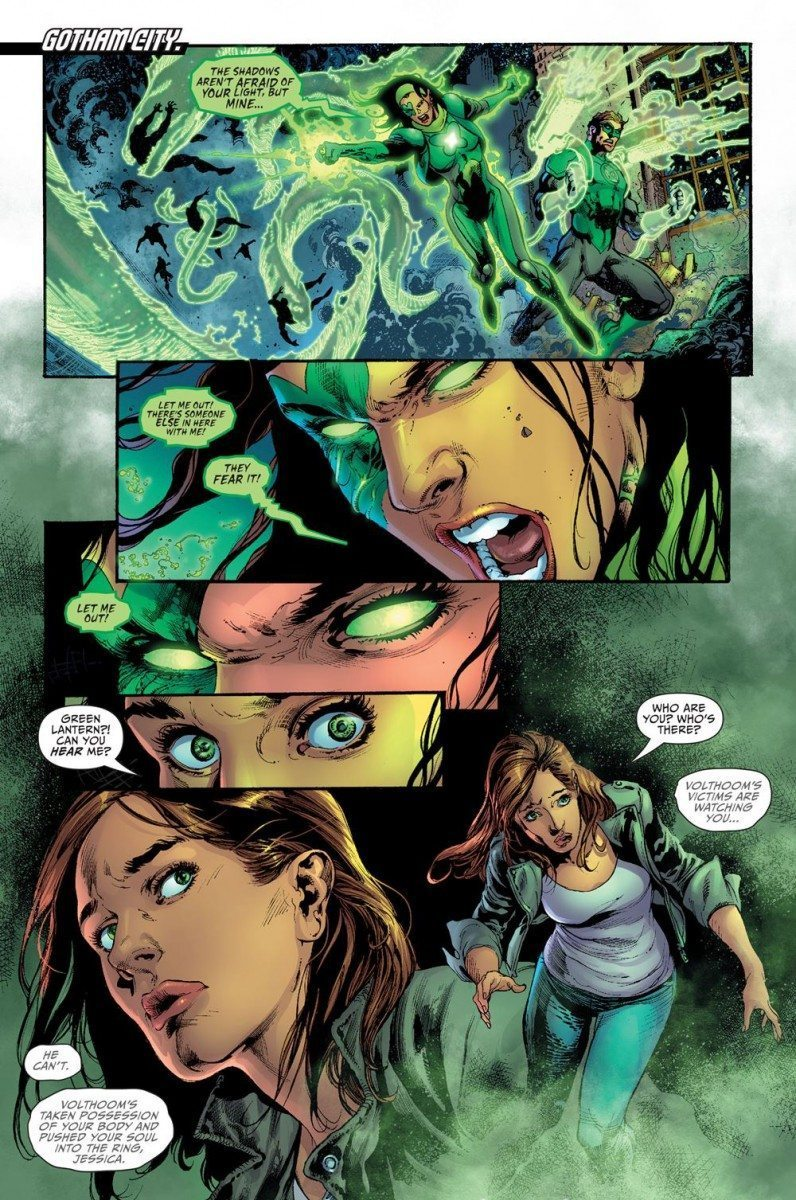 Darkseid War: Power Ring lost within the ring of Volthoom.