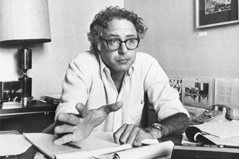 Bernie Sanders in his Burlington, Vermont, mayor's office in 1981