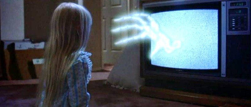 "The TV beckons Carol Anne in ""Poltergeist""."