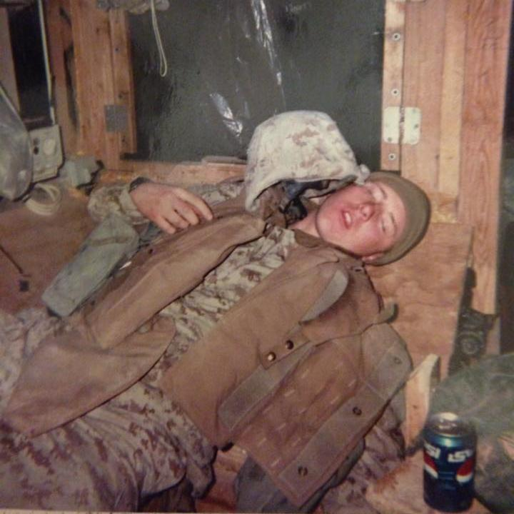 ...Jeremiah at the end of his deployment.