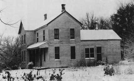 Ed Gein's house, where the body parts of over a dozen people were found.