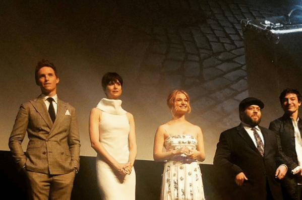 The cast of FANTASTIC BEASTS at the world premier in Alice Tully hall of Lincoln Center.