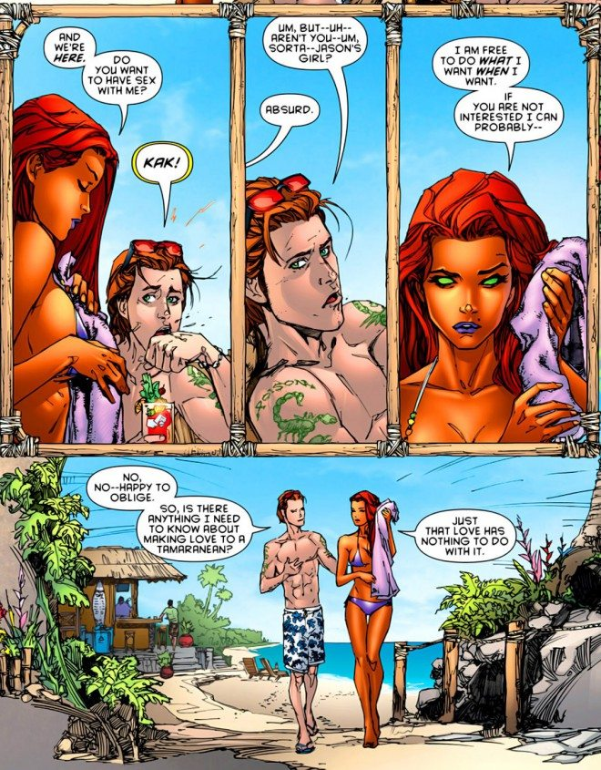 red hood and the outlaws Starfire