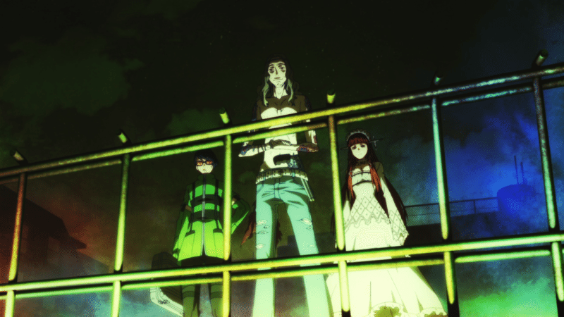 Strega members (left to right): Jin Shirato, Takaya Sakaki, and Chidori Yoshino.
