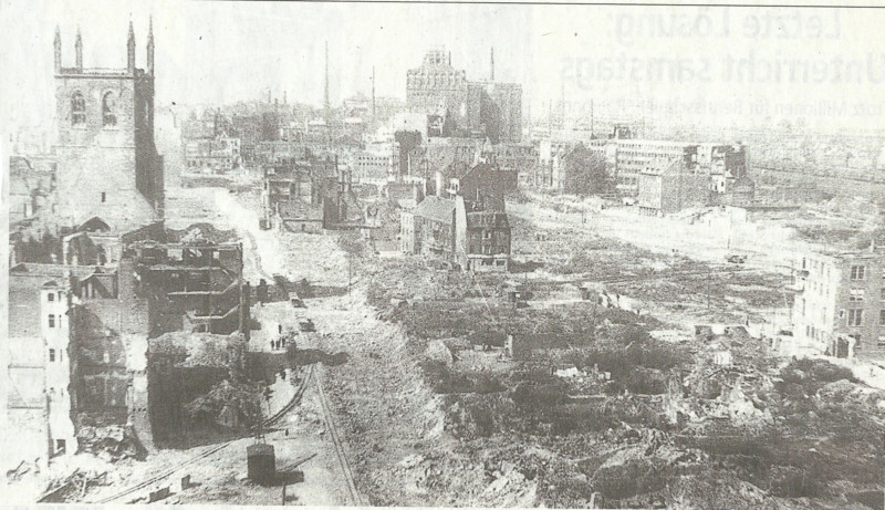 dortmund after WWII bomb strikes