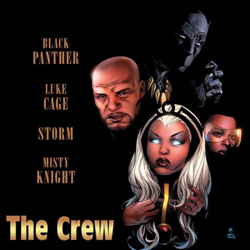 BLACK PANTHER & THE CREW #1 hip hop variant cover