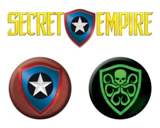 SECRET EMPIRE #1 launch parties coming soon to your local comic book stores! Check out these awesome Secret Empire #1 Launch Party pins!