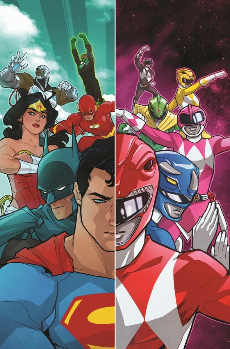 mighty morphin power rangers justice league