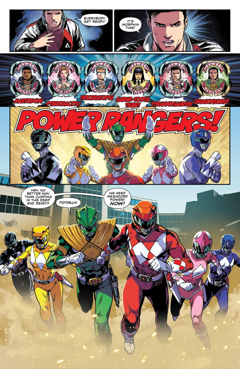 mighty morphin power rangers the team
