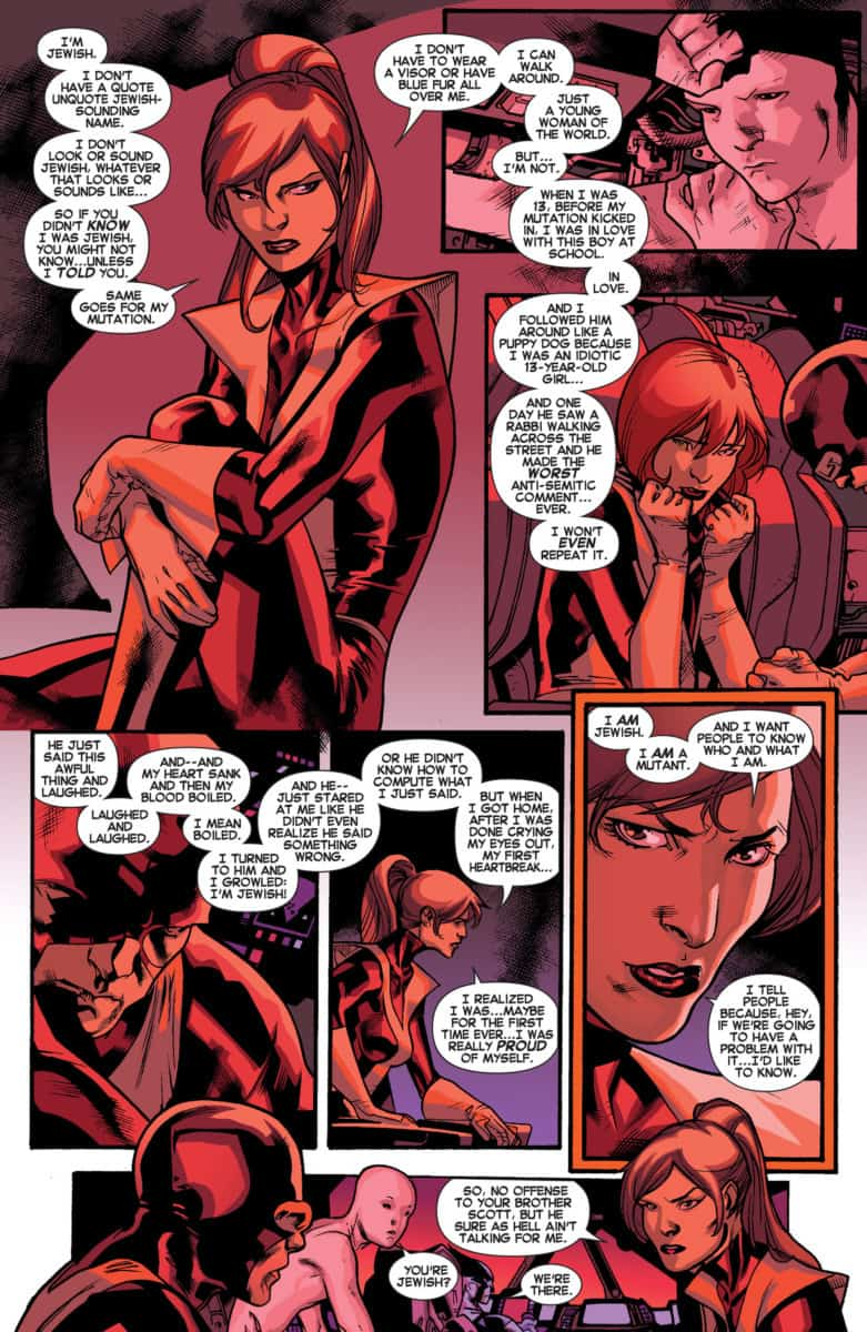 In ALL-NEW X-MEN #13, Kitty Pryde responds to Havok's infamous