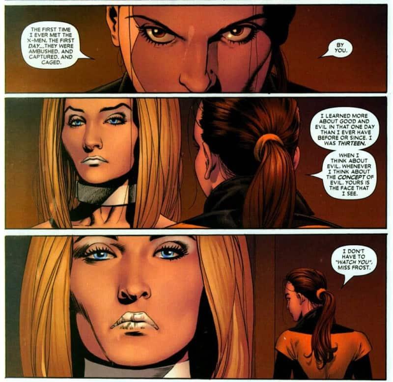 Kitty Pryde tells off Emma Frost in ASTONISHING X-MEN #2.