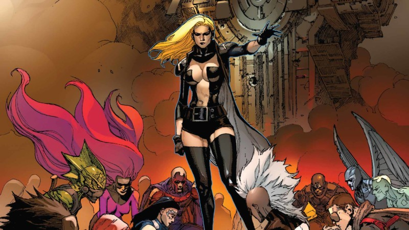 Emma Frost on the cover of INHUMANS VS. X-MEN #6