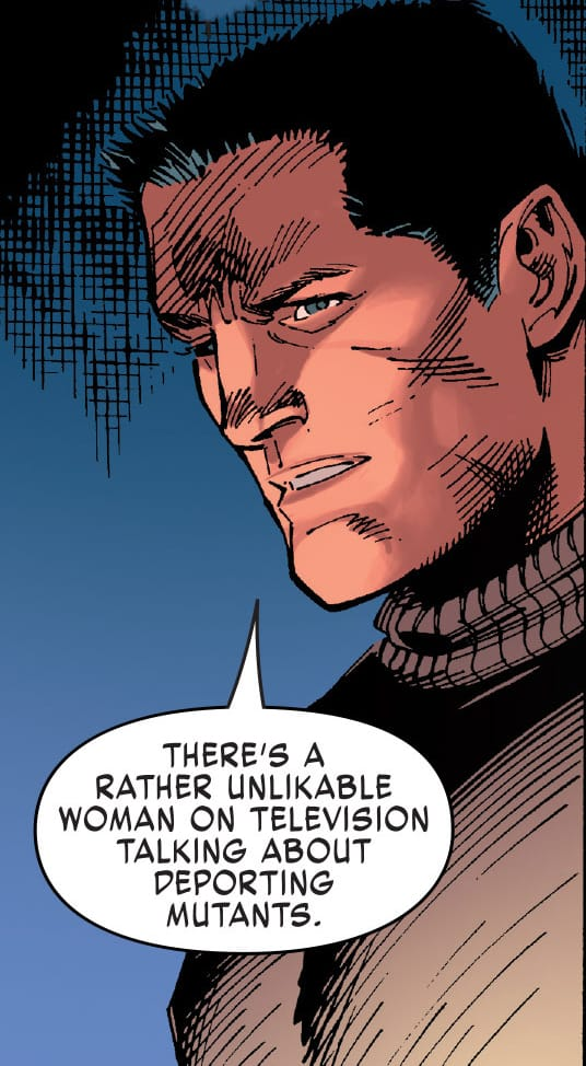In X-MEN GOLD #2, Colossus discusses with Kitty that the United States wants to deport mutants.