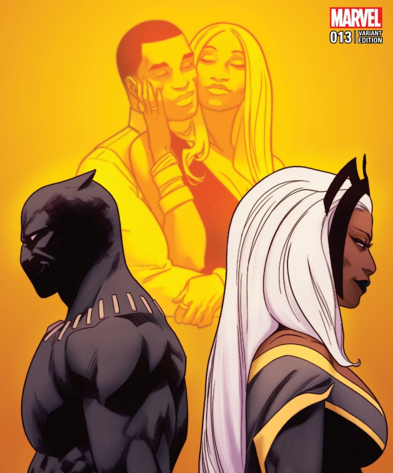 Storm on a BLACK PANTHER #13 variant cover