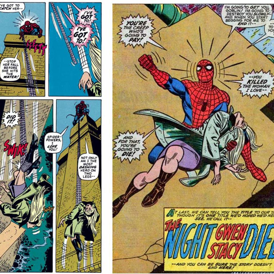 Spider-Man in THE DEATH OF GWEN STACY.
