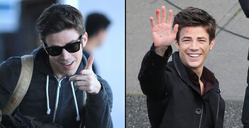 Grant Gustin Happy The Flash