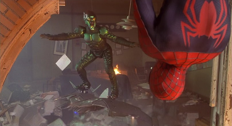 Peter Parker as Spider-Man and the Green Goblin