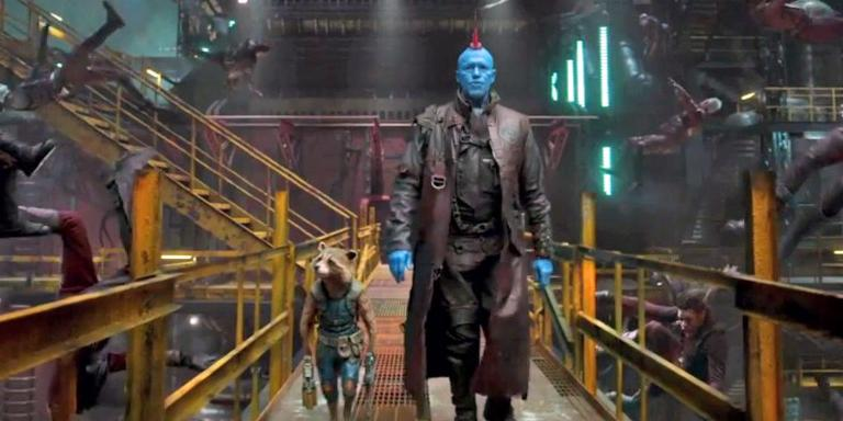GUARDIANS OF THE GALAXY VOL. 2 Yondu and Rocket defeating the Ravagers.