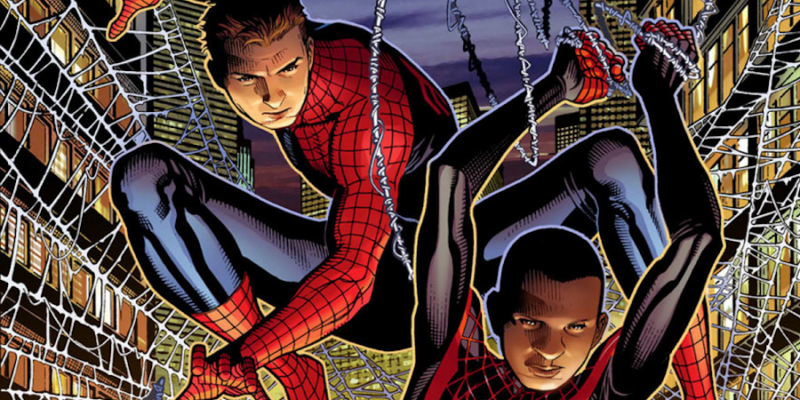 Peter and Miles from Issue #1 of Spider-Men