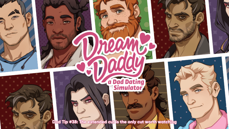 Dream Daddy Login Screen
